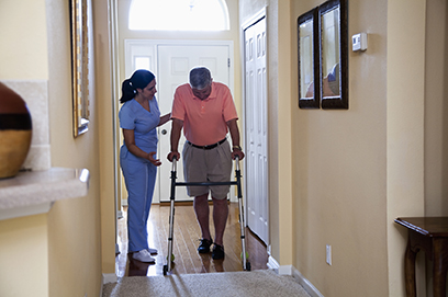 Home health aide fall prevention
