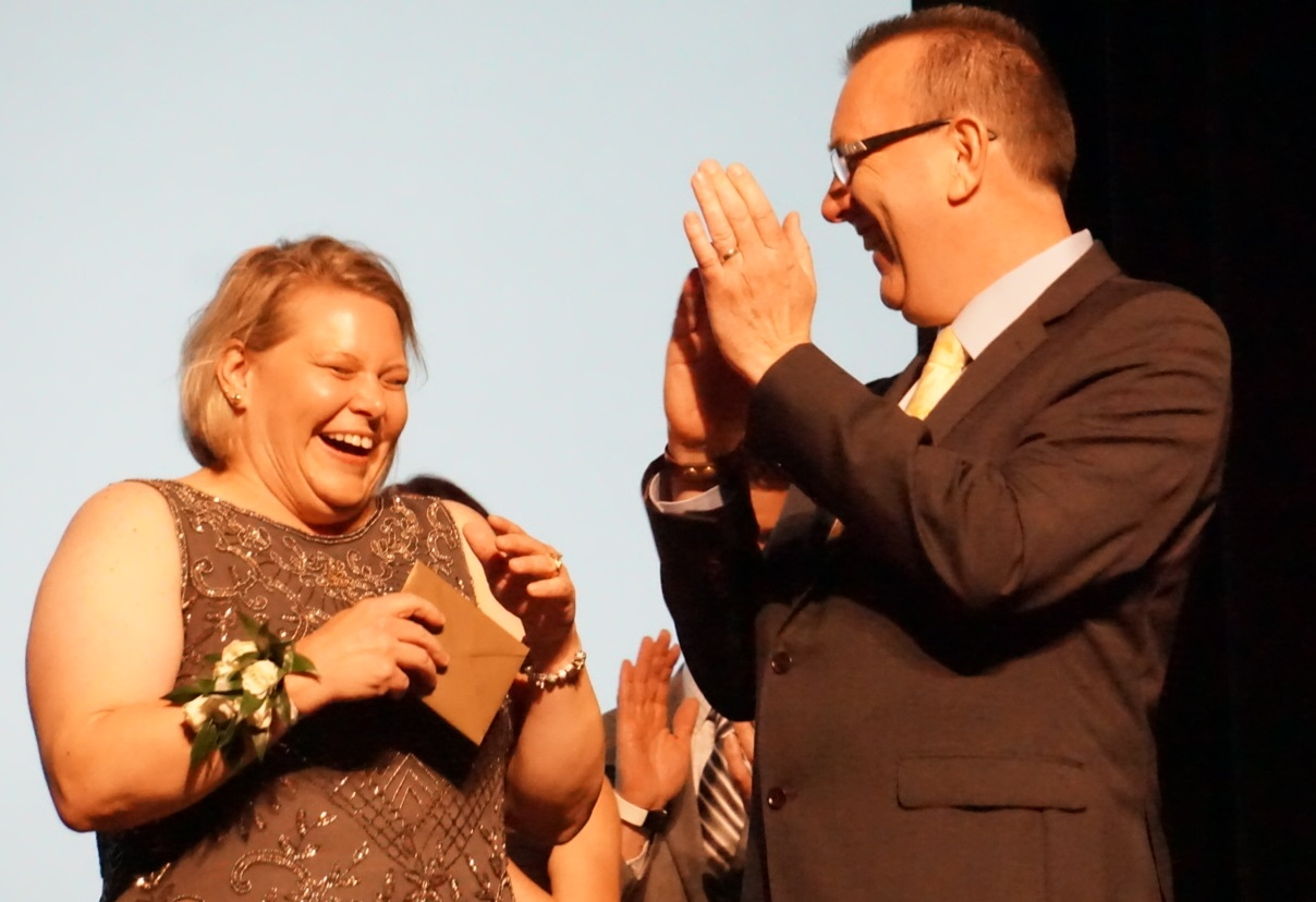 Jennifer Rine finding out she won the title of National Nurse of the Year.