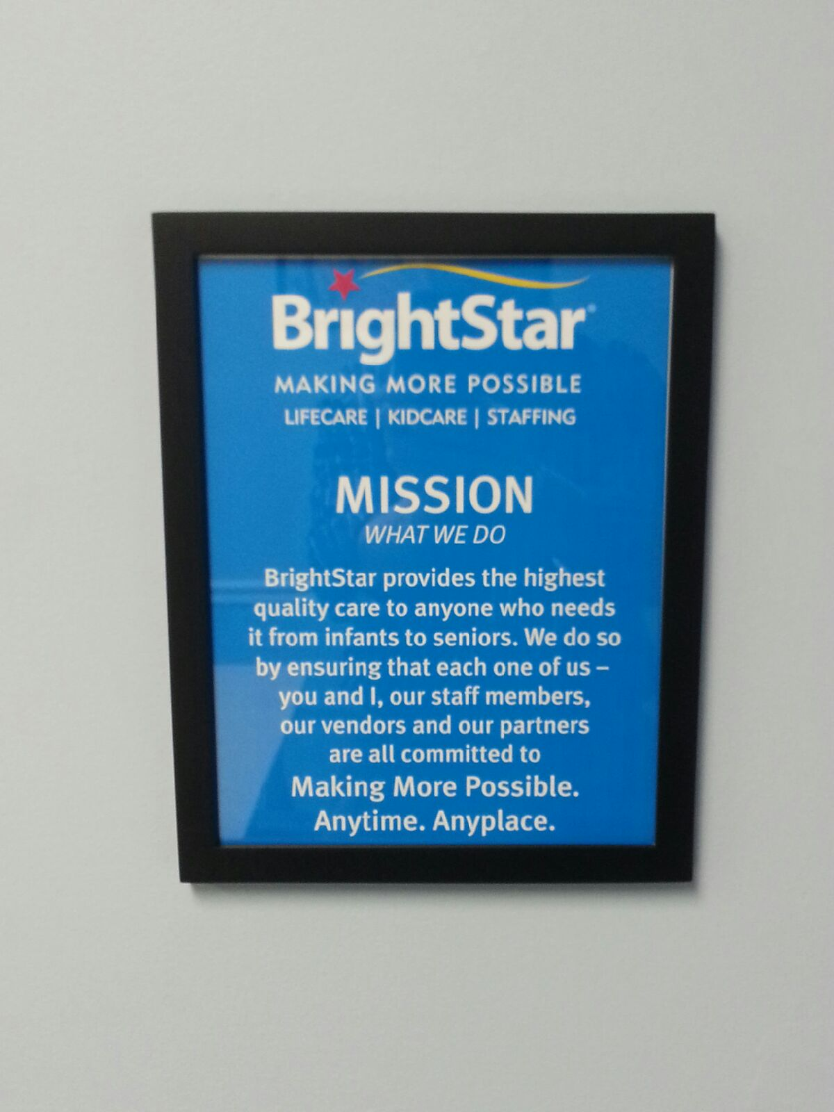 The BrightStar Care Mission Statement: the foundation for our ...