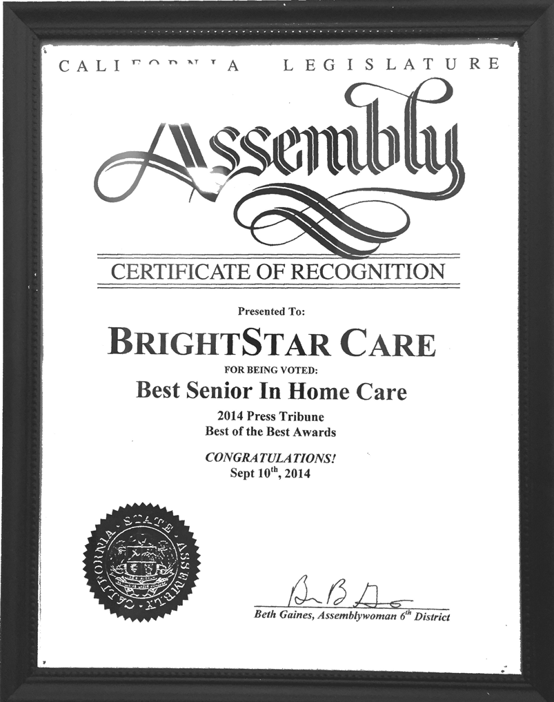 BrightStar-Care_State-Assembly-Certificate_Best-of-Home-Care_-2014