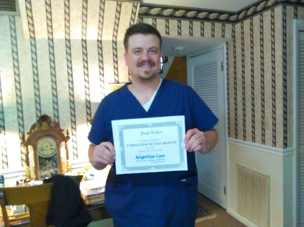 Joseph Rowland Caregiver of the Month