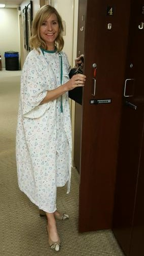 Amy hospital gown