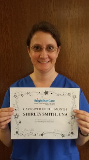 Shirley, CNA April Caregiver of the Month