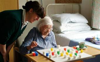 nurse & patient playing game